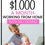 21 Ways to make an extra $1000 a month from home