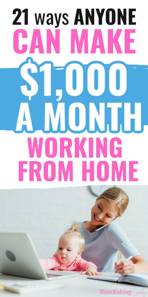 How to make an Extra $1,000 a month from home as a stay at home mom